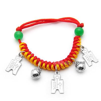 儿童红绳挂坠手链|韩国饰品批发|欧美饰品批发|头饰