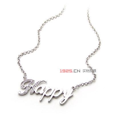 英文字母组合项链(已售完)|韩国饰品批发|银饰批发|银