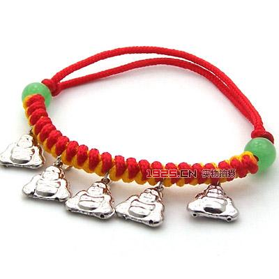 儿童系列 ->> 五佛编绳手链(编织绳颜色随机)  商品名称:  商品说明