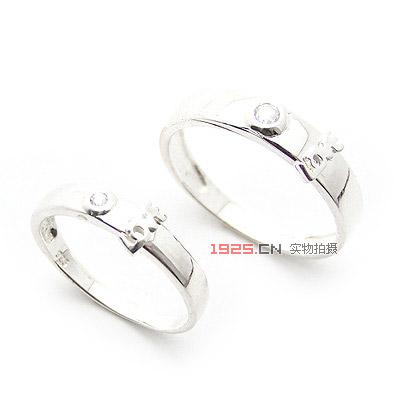 之星海豚恋人925纯银戒指女韩版可爱情侣