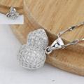 925银+镀白金+镶钻|约1.7g-10*13mm