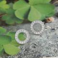 925银+镀白金+镶钻|约0.6g-10*10mm