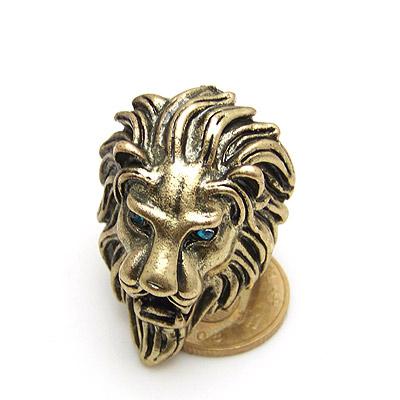 欧美复古森林之王雄狮头戒指