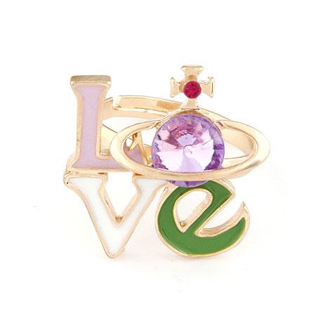 个性 戒指/当前位置:首页/>>戒指/>> 韩版时尚个性love简洁土星气质戒指