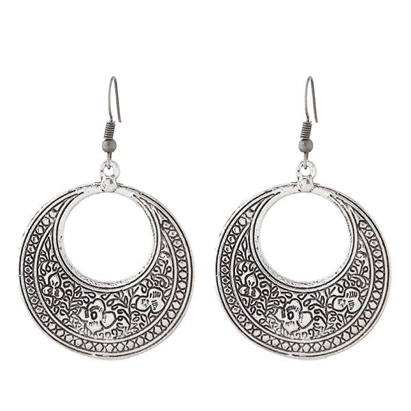 欧美时尚 金属复古通花气质耳环