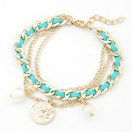 可爱水晶珍珠手链(黑色)