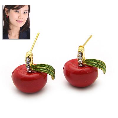 商品名称:韩国明星·可爱红苹果耳钉(已售完)