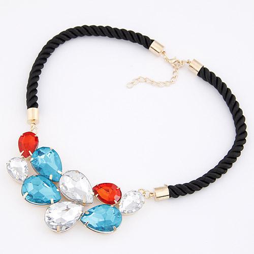 华丽宝石编制绳子项链(已售完)|韩国饰品
