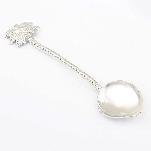欧式宫延 复古椰树形状摆饰勺|韩国饰品批发|银饰