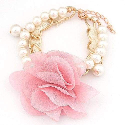 韩版时尚花朵珍珠双层手链(已售完)