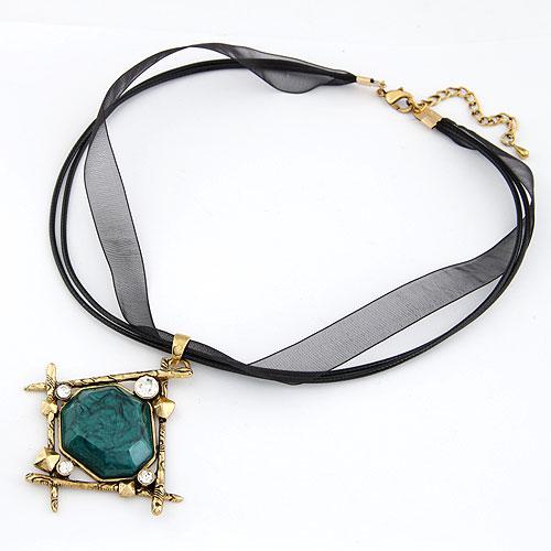 xl53银白波西米亚饰品镂空花纹吊坠项链女毛衣链