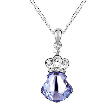 奥地利水晶项链-贝壳公主(薰衣草紫)