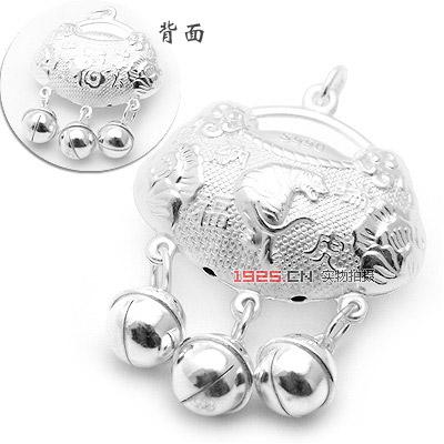 99银瑞虎纳福儿童锁坠(已售完)|韩国饰品批发|银饰